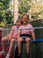 Poppy and I, aged 5 and 6 years old